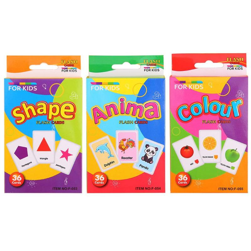 Children Recognition Color Animal Shape Teaching Card Educational Toys
