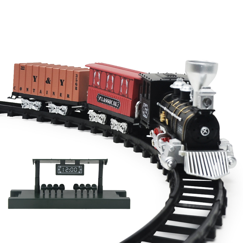 Children's Toy with Led Light for Children Toys Games Train Set Railway Toy Retro Model Train Sound Tain Kids Train Toy