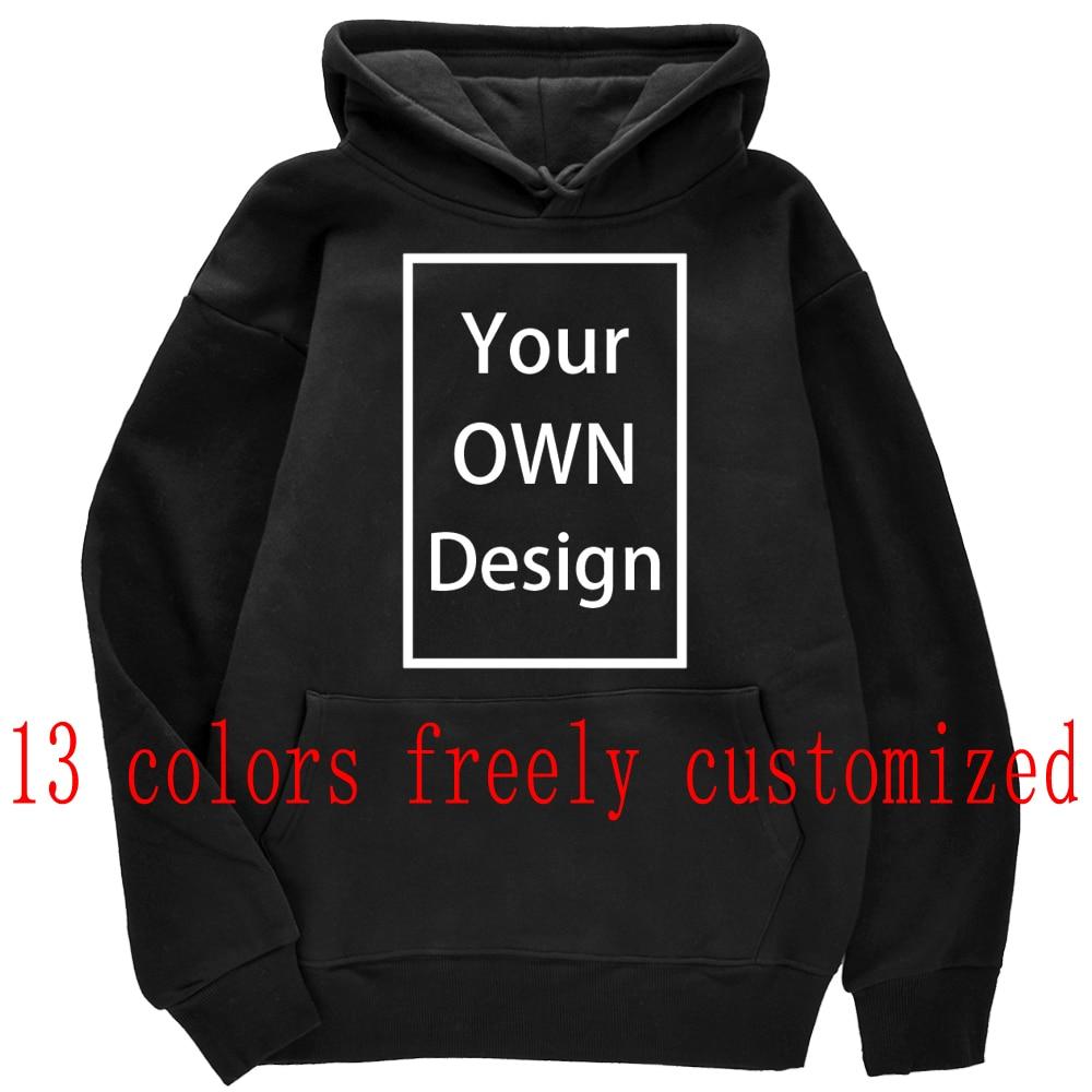 Толстовка с капюшоном для мужчин и женщин, Повседневная Свободная Толстовка с логотипом/изображением на заказ, 13 цветов, 2021