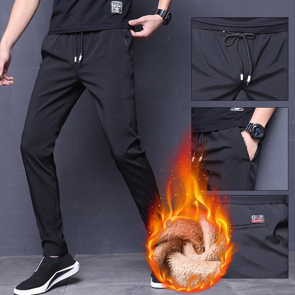 Unisex Men Women Sweatpants Plus Size Velvet Padded Trousers Casual Loose Winter Warm Pants Joggers Streetwear Pantalon Homme