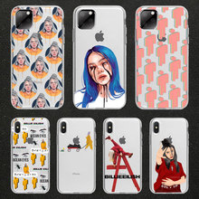 Billie Eilish Stickers dont smile at me cartoon phone Case For iPhone 11 pro max 7 5S SE 6 6s 8 Plus X XR XS MAX Soft TPU