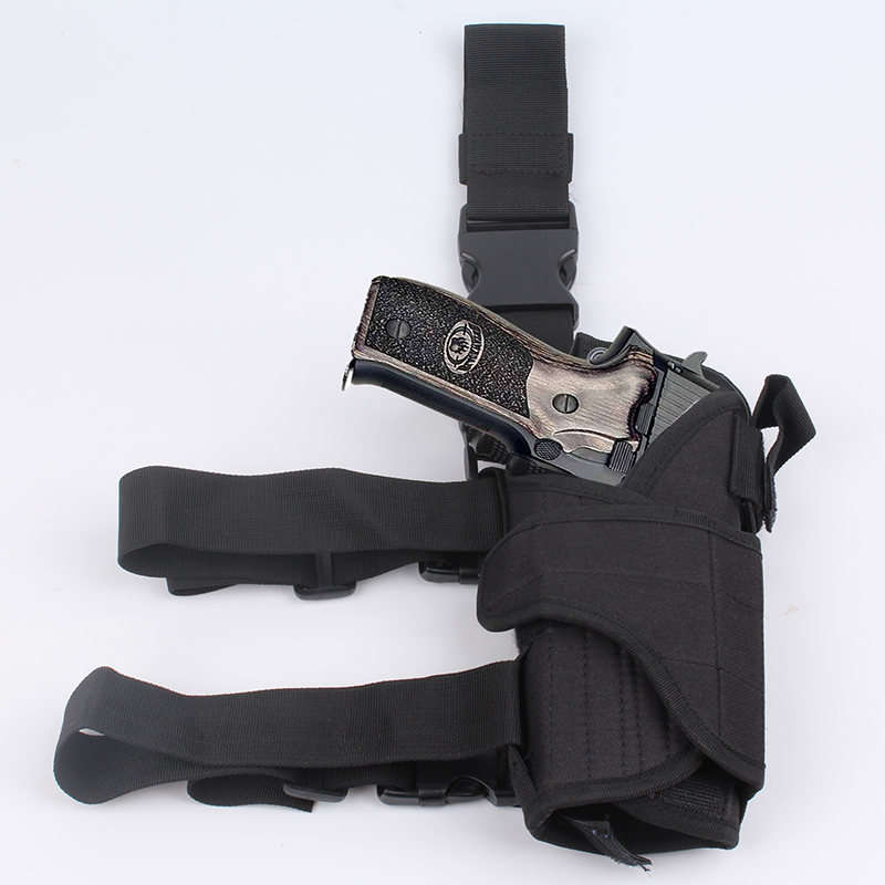 Scoutdoor Adjustable Right Drop Leg Tactical Army Pistol Gun Thigh Airsoft Pistol Holster Pouch for Glock 17 Glock 18 in Holsters from Sports Entertainment