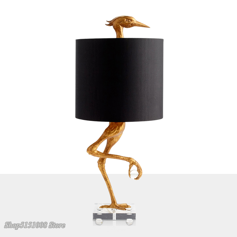 Creative Design Ostrich Shape Table Lamp American And Western Living Room Bedroom Desk Lamp Modern Art Home Deco Light Luminaire