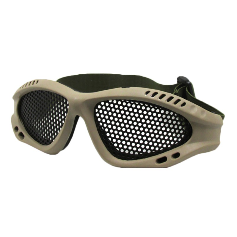 Tactical Goggles Cycling Climbing Mesh Eyewear Goggles Adjustable Headband Protect Eyes Mesh Glasses Wire