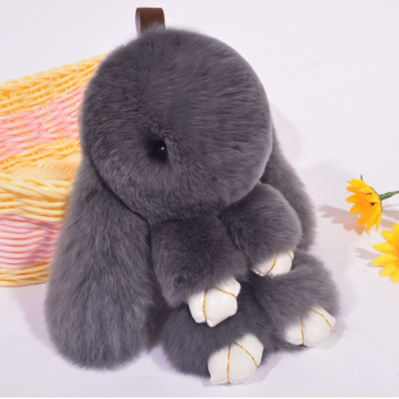 Image 5 - Plush Rabbit Keychain Car Pendant Girl Car Accessories Interior Dashboard Decoration Fashion Bag Pendant Gift-in Ornaments from Automobiles & Motorcycles