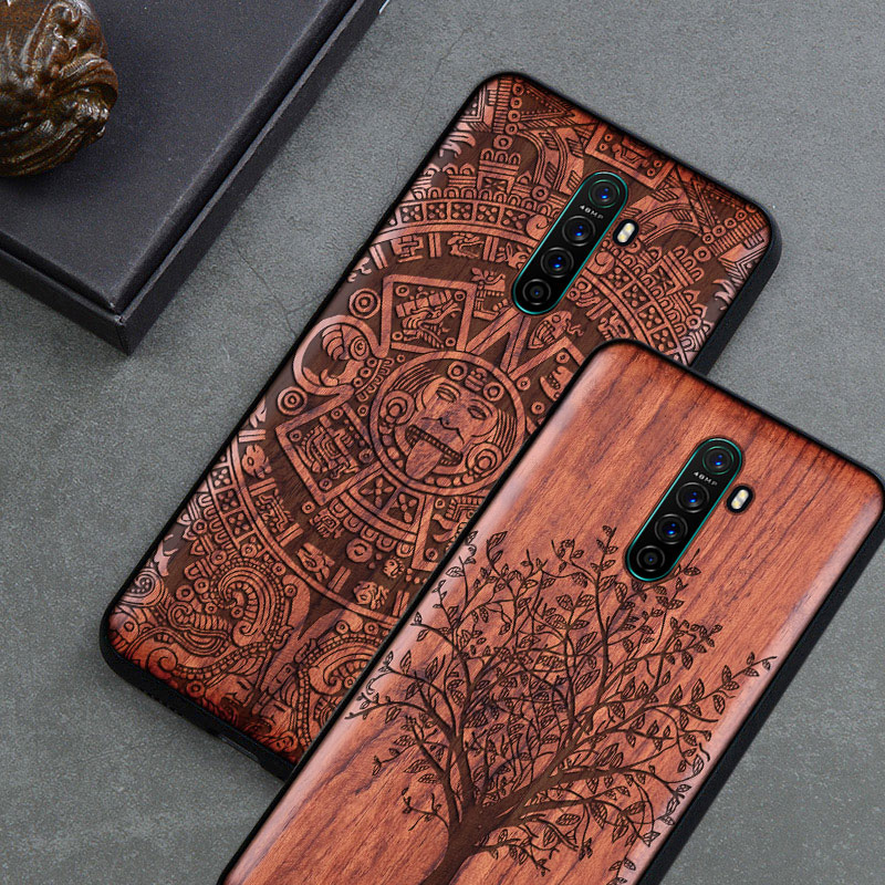 2020 New <font><b>Realme</b></font> X2 Pro Case Slim Wood Back Cover TPU Bumper Case On <font><b>Realme</b></font> <font><b>X</b></font> <font><b>Realme</b></font> X2 Pro <font><b>Phone</b></font> Cases image