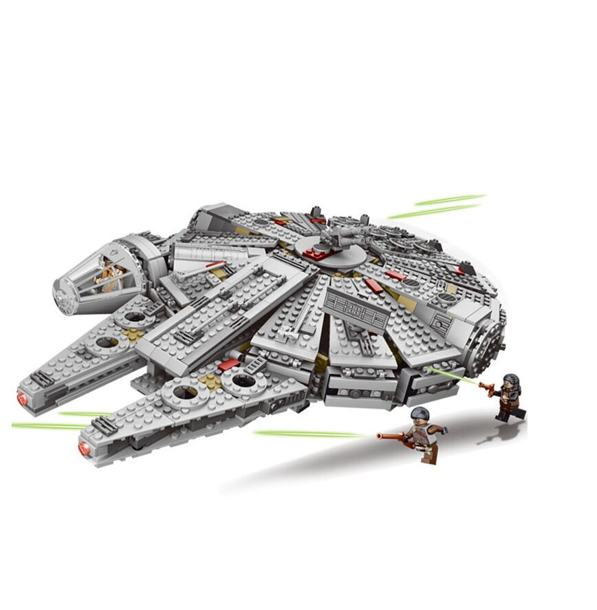 1381 Pcs Force Awakens Star Set Wars Series Compatible Millennium 79211 Falcon Model Building Blocks Toys For Children Kids Gift