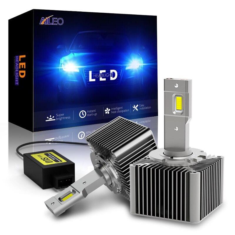 AILEO мини 1:1 CAN BUS 6500K холодный белый D1S D1R D2S D2R D3S D3R D4S D4R автомобилей головной светильник лампы 110W 25000LM авто светильник светодиодный комплект обновления Передние LED-фары для авто      АлиЭкспресс