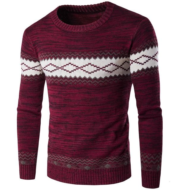 가을 스웨터와 pullovers 남자 긴 소매 니트 스웨터 고품질 겨울 pullovers homme 따뜻한 네이비 코트 3xl 최신