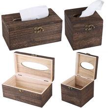 Коробка для салфеток, Высококачественная винтажная деревянная коробка для ящиков, бар, ресторан, китайский красивый держатель для салфеток, прямоугольная квадратная коробка