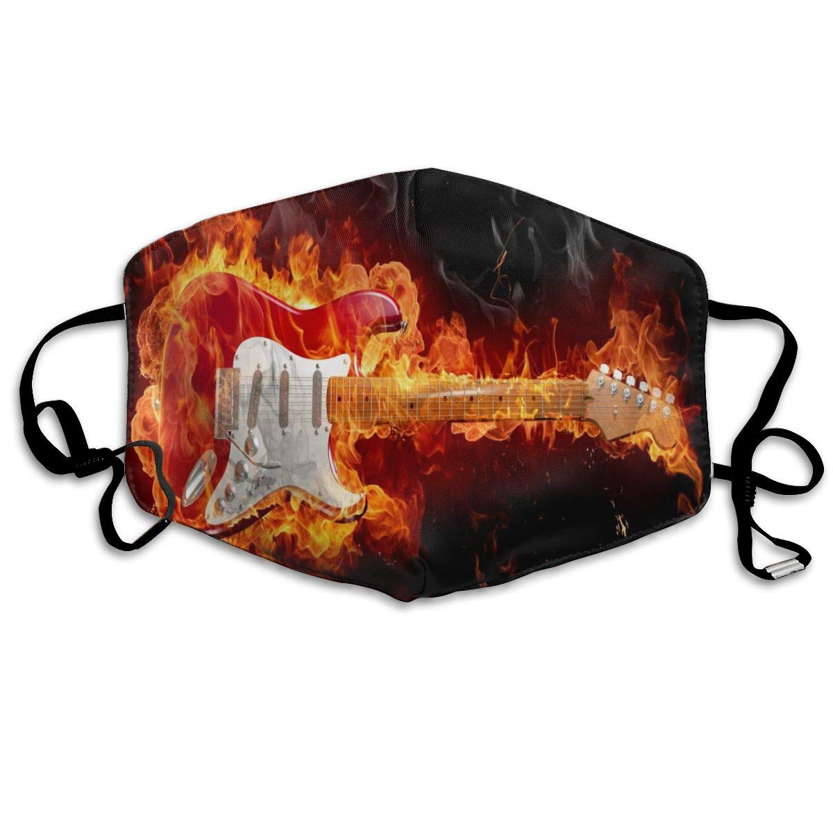 Face Mask Guitar Fire Wallpaper Fabulous Cycling Half Face Earloop Face Mask For Girls