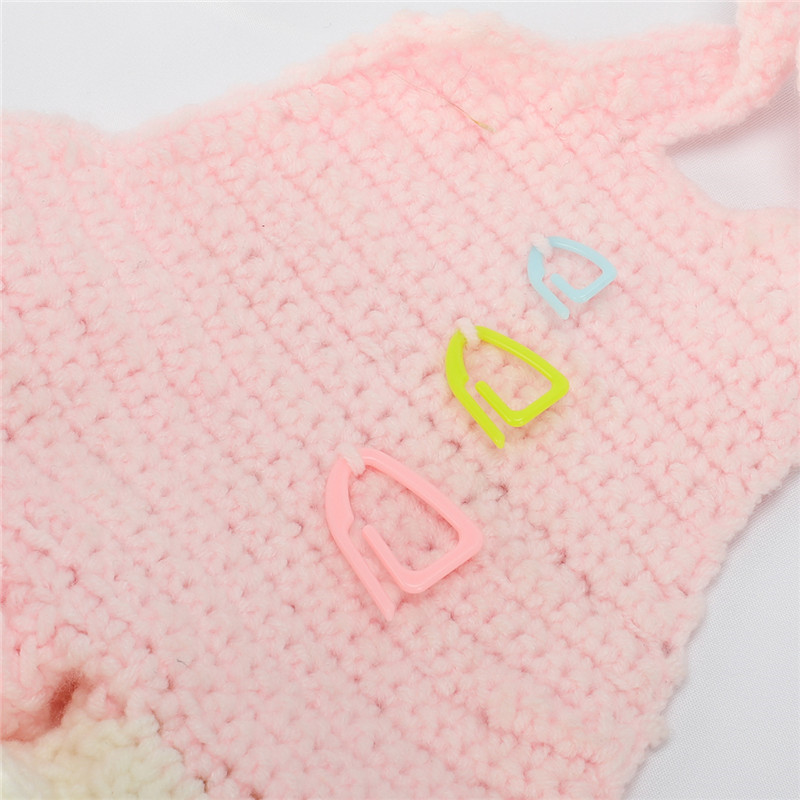 3 Sizes 15pcs Plastic Knitting Tools Locking Stitch Markers Crochet Latch Knitting Tools Needle Clip Hook DIY Sewing Craft Tools (6)