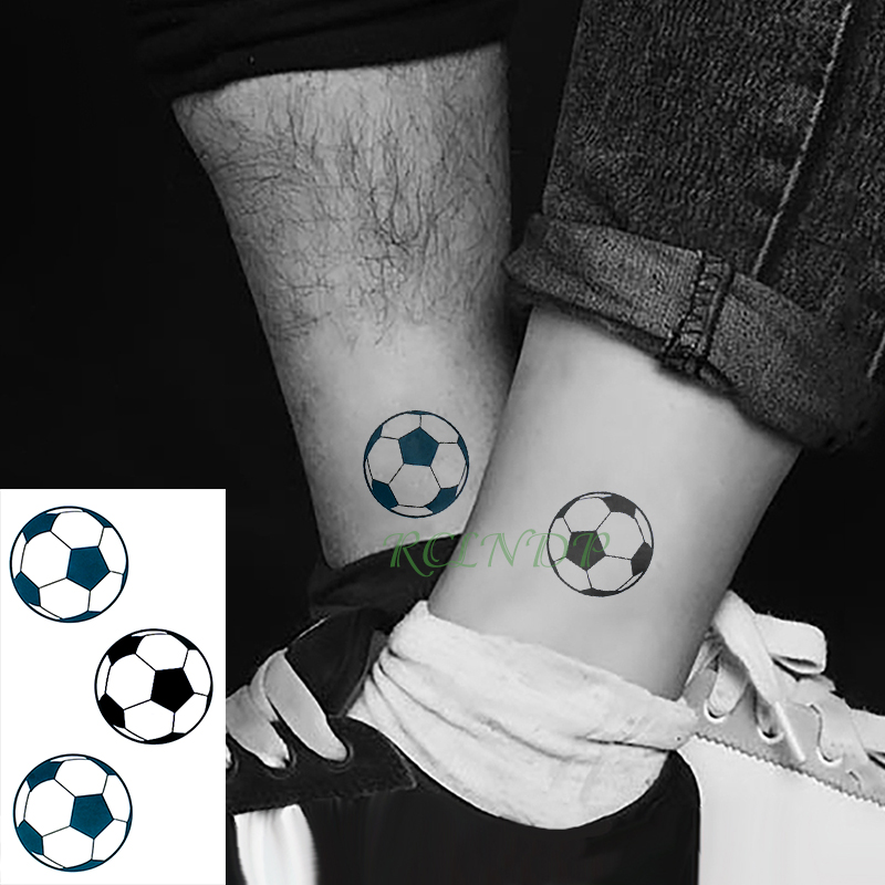 Waterproof Temporary Tattoo Stickers Football Fake Tatto Flash Tatoo Tatouage Body Art Head Foot Arm Neck For Girl Women Men