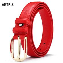 AKTRIS Ladys All-match Quality 1st Layer Genuine Leather Belts Cover AlloyBuckle Metal Casual Belt for Women FCO023