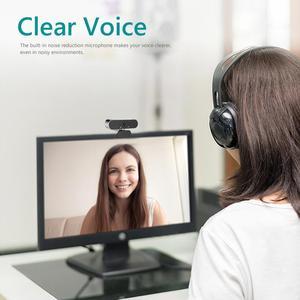 Image 5 - ALLOET Webcam Full HD 1080P, caméra Web avec Microphone intégré, rotatif, Autofocus, pour la diffusion en direct et le travail de vidéos