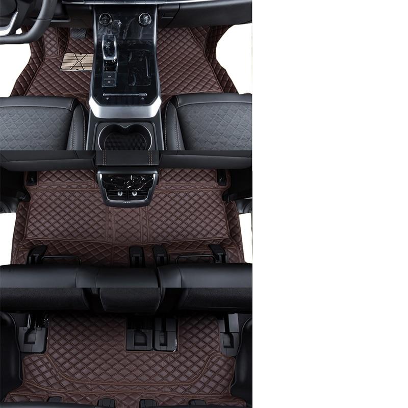 lsrtw2017 leather car floor mats rug carpet for chery tiggo 8 2017 2018 2019 2020 accessories interior cover sticker tiggo8(China)
