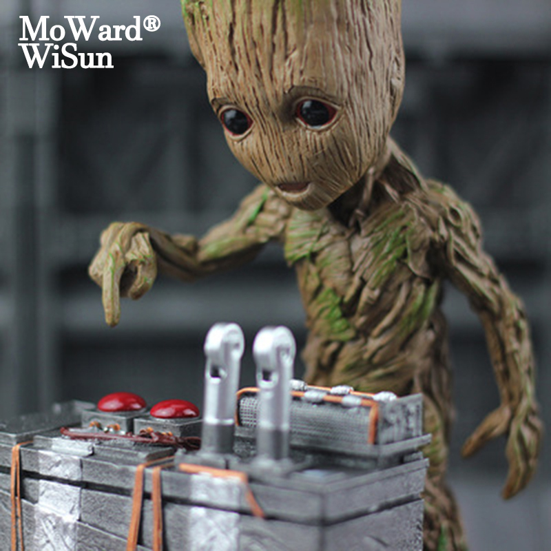Moward Groot Wisun Movie Tree Man Baby Action Figure Hero Model Guardians of The Galaxy Model Toy Desk Decoration Gifts for Kid(China)