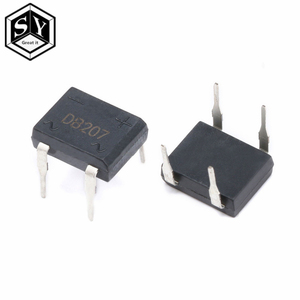 10pcs/lot diode bridge retifica DB207 DIP-4 DB207S DIP4 2A 1000V power diode rectifier 1000v electronic components