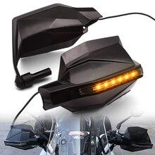 واقيات لليد لدراجات كاواساكي نينجا 650R ER6F ER6N ZZR1200 GPZ500 EX500 واقيات لليد مضادة للرياح مع فرشاة ومصباح للإشارة