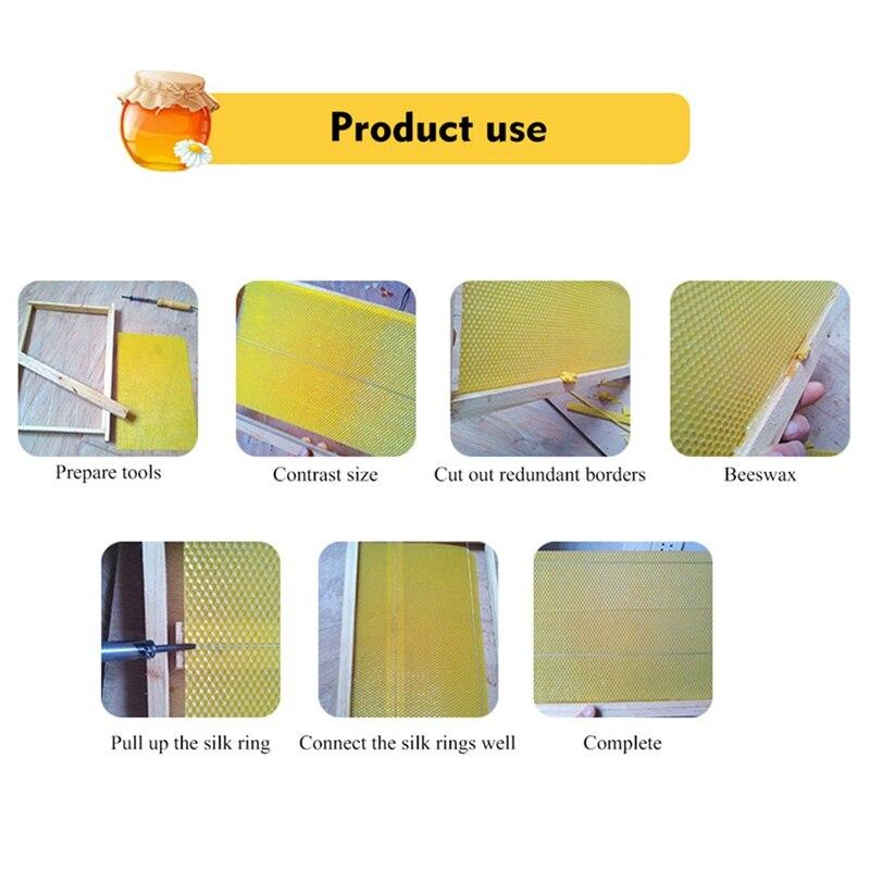 30pcs Honeycomb Bee Wax Foundation Beehive Wax Frames Base Sheets Honey Frame