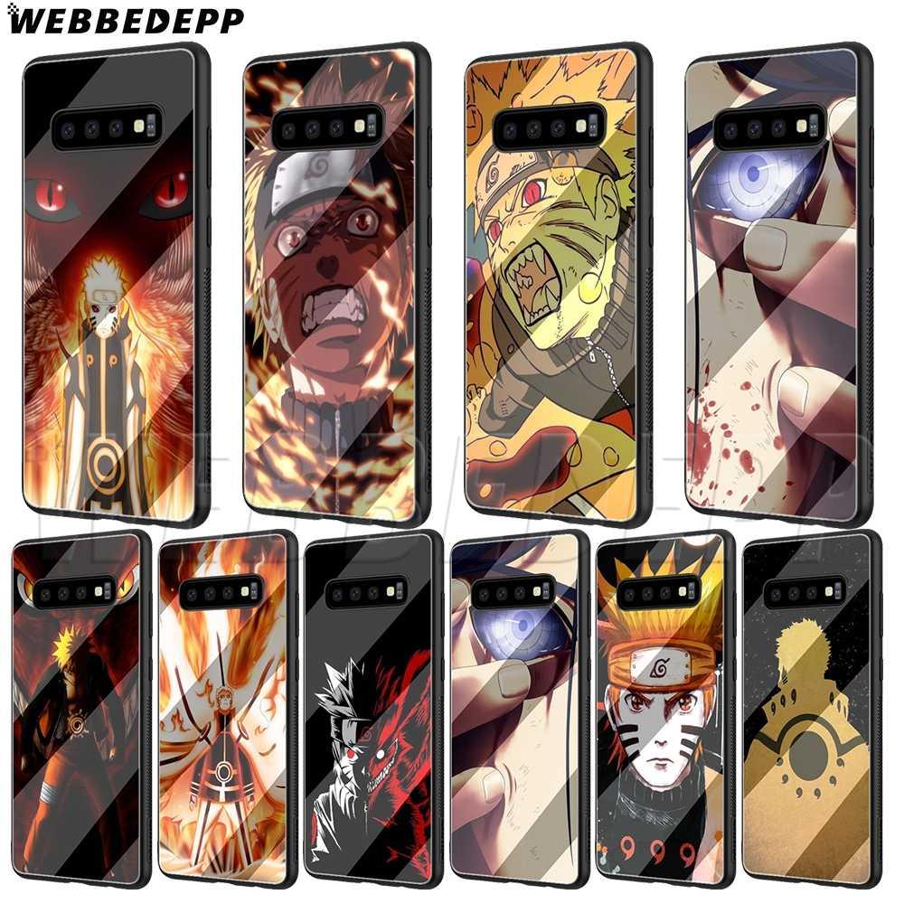 Caixa De Vidro para Samsung S7 WEBBEDEPP Anime Naruto S8 S9 S10 Nota 8 9 Borda Mais A10 A20 A30 A50 a60 A70