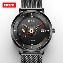 Military Watch Clock Quartz DOM Steel Waterproof Men's Brand Men Sport M-1299 Rriginal-Design