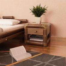Table de chevet 45x45x40 cm bambou marron foncé Tables de chevet