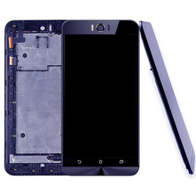 цена на High quality For ASUS Zenfone Selfie ZD551KL Z00UD LCD Screen and Digitizer Full Assembly with Frame
