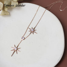 Timeless Wonder Titanium Zirconia Sunburst Choker Necklace Stainless Steel Jewelry Boho Chains Gift Elegant Kpop Rose Gold 3537(China)