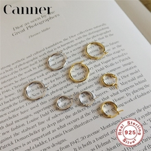 цена на 13/18mm 1 pair 925 Sterling Silver Simple Round Hoop Earrings for Women Gold Silver color Korean Earrings Fashion Jewelry 2019