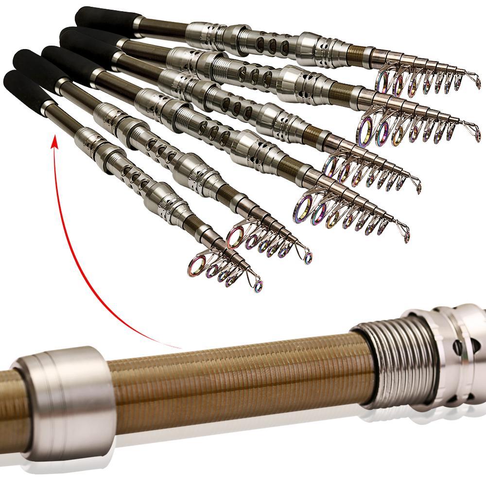 Image 4 - Sougayilang 2.1 3.0m Superhard Power Hand Telescopic Fishing Rod Carp Lure Sea Spinning Carbon Fishing Rod Fishing Tackle Pescatelescopic fishing rodfishing rodrod carp -