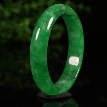 Send National Certificate Natural Myanmar Emerald Green Bangle 54mm-64mm Women's Jade Brace