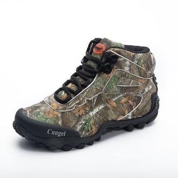 Los hombres táctico militar botas de lona impermeable camuflaje zapatos de senderismo zapatos de escalada zapatillas de Trekking botas al aire libre de combate del desierto zapato del ejército
