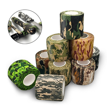 цена на Tactical Camo Tape 5cm*4.5M Self-Adhesive Camouflage Tape Outdoor Hunting Shooting Stealth Tape Rifle Gun Stretch Wrap Cover