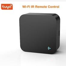 Controle remoto inteligente tuya, controle remoto wi fi ir para automação residencial com controle remoto universal de voz da alexa do google home