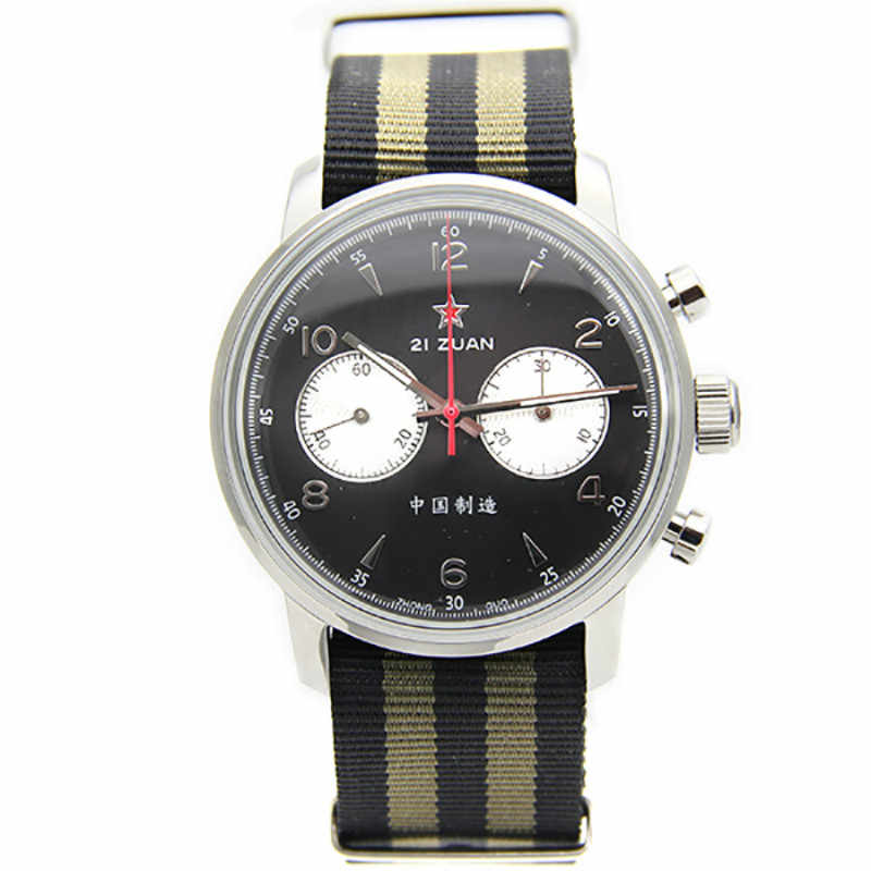 Red Star Air Force Chronograph Watches Men Original Seagull ST1901 Movement Chinese Sea-gull 1963 Man Fod Mechanical Watch Pilot