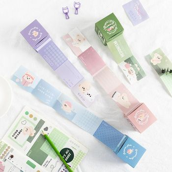 Sharkbang New Arrival Kawaii Self-discipline Daily Clock On Sticky Memo Note Draw-out Manual Material Paper School Stationery image