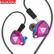 מקורי QKZ VK4 צבעוני DD ב אוזן אוזניות אוזניות HIFI בס רעש ביטול אוזניות עם מיקרופון להחליף כבל אוזניות