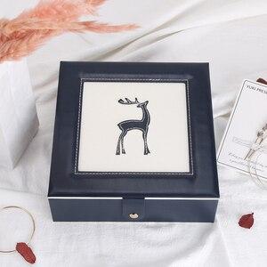 Image 5 - 2019 新ファッション革の宝石箱のギフトボックス包装ディスプレイ大絶妙な化粧ケース高級ジュエリーオーガナイザー