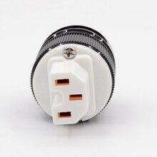 2 шт., HIFI Красный медный разъем IEC, штепсельная вилка переменного тока для силового кабеля DIY