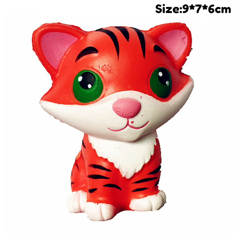 Kawaii Tiger Slow Rising Simulation Panda Unicorn Shark Cat Animal Squishy Toy Anti Stress Reliever Soft Squeeze Xmas Gift Toys