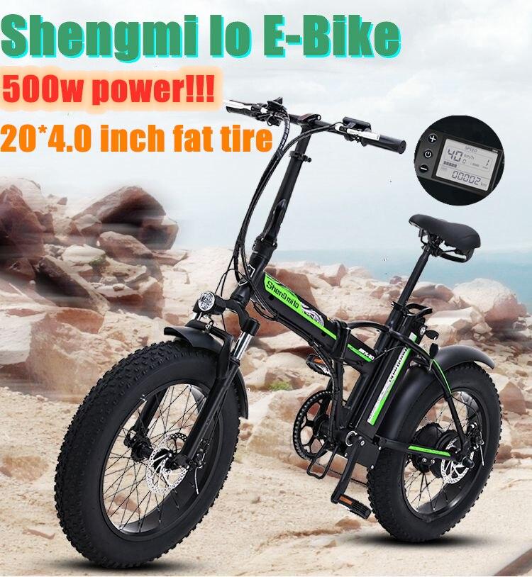 500W bici elettrica Nuovo Super-Neve ebike 48V elettrico bicicletta Pieghevole in lega di alluminio Del Motociclo elettrico Portatile fat tire bici