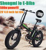 500W elektrische fahrrad Neue Super Schnee ebike 48V elektrische Klapp fahrrad aluminium legierung Motorrad Tragbare elektrische fett reifen bike
