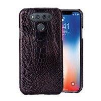 Phone Case For lg g6 case G3 G4 G5 G7 G8s ThinQ V10 V20 V30 V40 V50 Thinq Q6 Q7 Q8 K4 K8 2017 Natural ostrich foot skin
