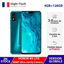 Глобальная версия Honor 9X Lite смартфон 4 ГБ ОЗУ 128 Гб ПЗУ 48мп ультра камера 6,5 ''полноэкранный дисплей NFC GPU Turbo мобильный телефон