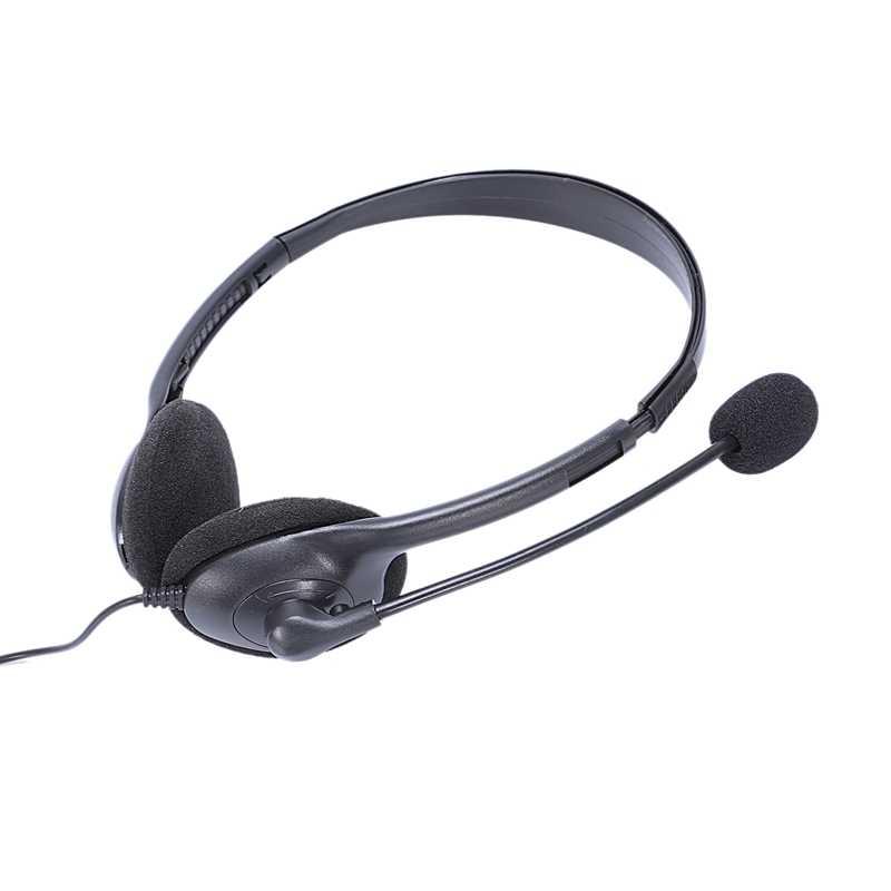 HOT-3.5Mm السلكية سماعة الألعاب لعبة سماعة ميكروفون عقال مع سماعة استيريو ومايك باس ل جهاز كمبيوتر شخصي بلاي ستيشن 4 Ps4