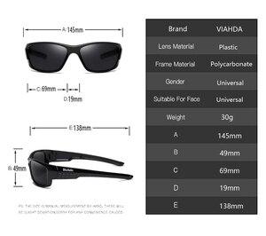 Image 3 - Viahda marca design novo polarizado óculos de sol dos homens moda masculina óculos de sol óculos de viagem pesca oculos com caixa