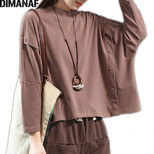 DIMANAF Plus Size Women Sweatshirts Cotton Thick Female Tops Shirts Autumn Winter Batwing Sleeve Big Loose Solid Clothing