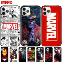 Black tpu case for iphone 11 /11PRO /11 PRO MAX CASE Avengers Endgame Marvel Comics(China)