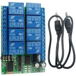 AD22A08 DC12V 8 kanałów DTMF przekaźnik MT8870 dekoder telefon zdalnego sterowania przełącznik w Adaptery AC/DC od Elektronika użytkowa na